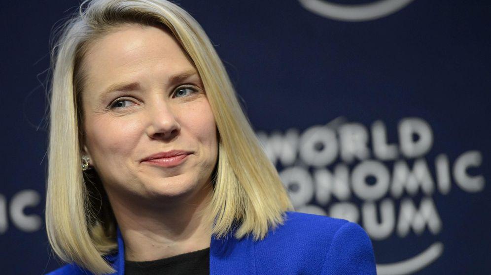 Foto: La consejera delegada de Yahoo durante el último Foro Económico Mundial celebrado en Davos (Fotografía: Reuters).