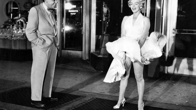 La escena con el mítico vestido blanco de Marilyn Monroe. (Cortesía)