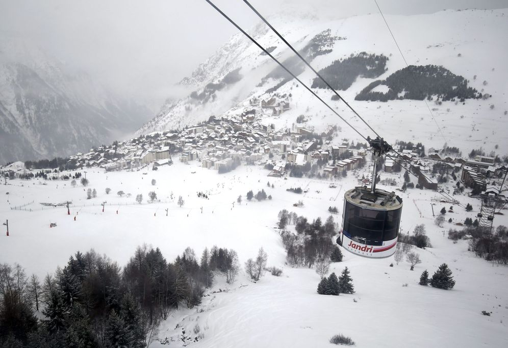 Foto: Vista general de la estación de esquí Deux Alpes, en Francia. (EFE)
