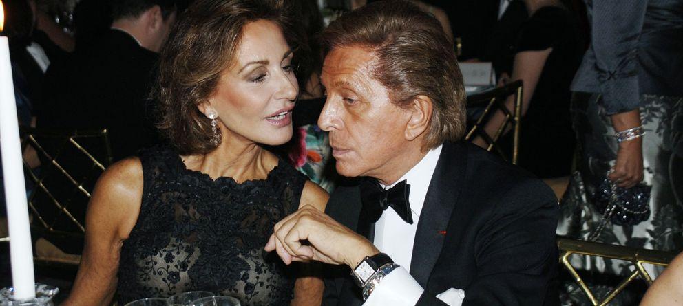 Foto: Naty Abascal, junto al diseñador italiano Valentino en el año 2006 (Gtres)