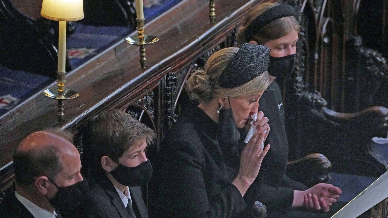 Sophie de Wessex, durante el funeral. (Cordon Press)