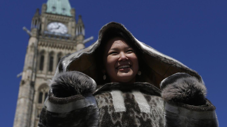 Manifestación a favor del comercio tradicional inuit en Ottawa. (Reuters)