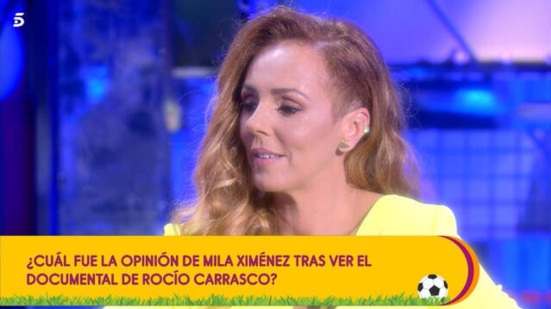 Rocío Carrasco en el plató de 'Sálvame'. (Telecinco)