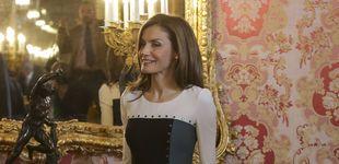 Post de Doña Letizia luce un vestido con poco 'arte' en el almuerzo del Cervantes