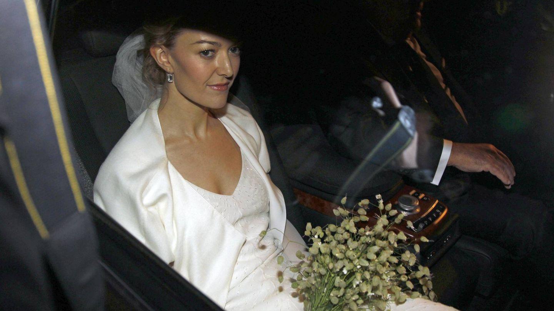 Marta Ortega en su primera boda con Sergio Álvarez. (Gtres)