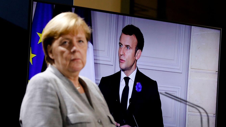 Foto: Angela Merkel y Emmanuel Macron, en una videoconferencia reciente. (Reuters)
