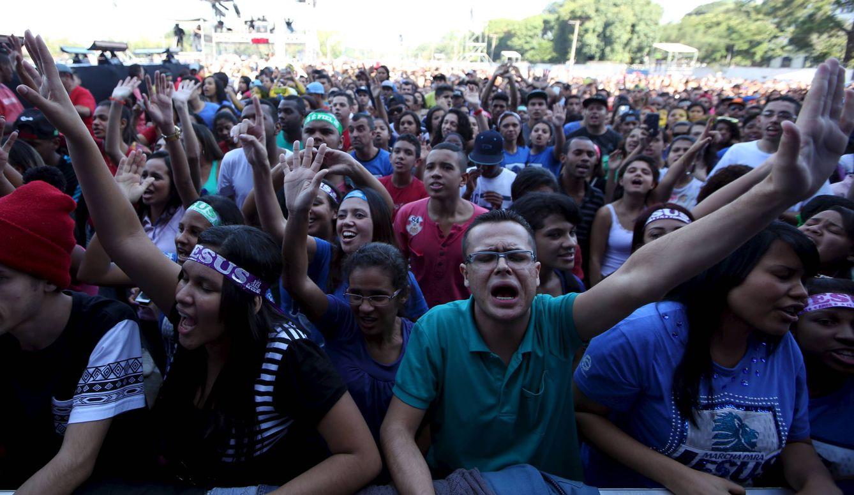 Foto: Brasileños evangélicos durante el Jesus Parade, en Sao Paulo (Reuters).