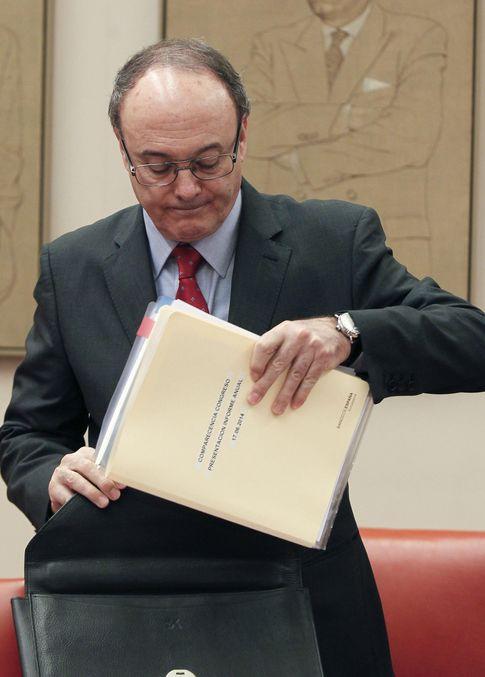 Foto: El gobernador del BdE Luis María Linde (eFE)