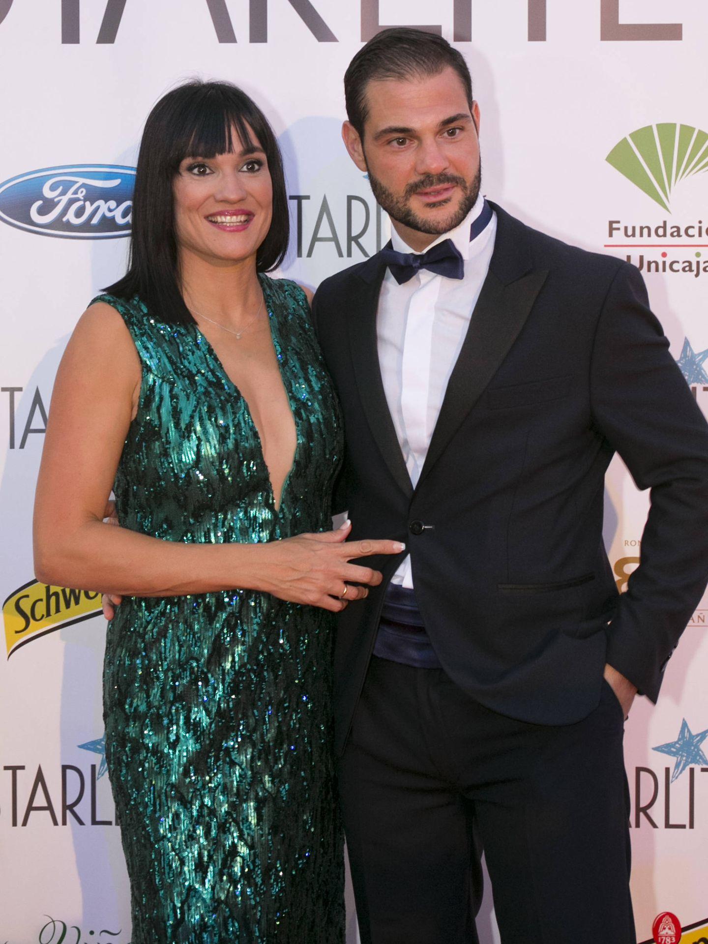 Irene Villa y Juan Pablo Lauro, este verano en la gala Starlite de Marbella. (Getty)