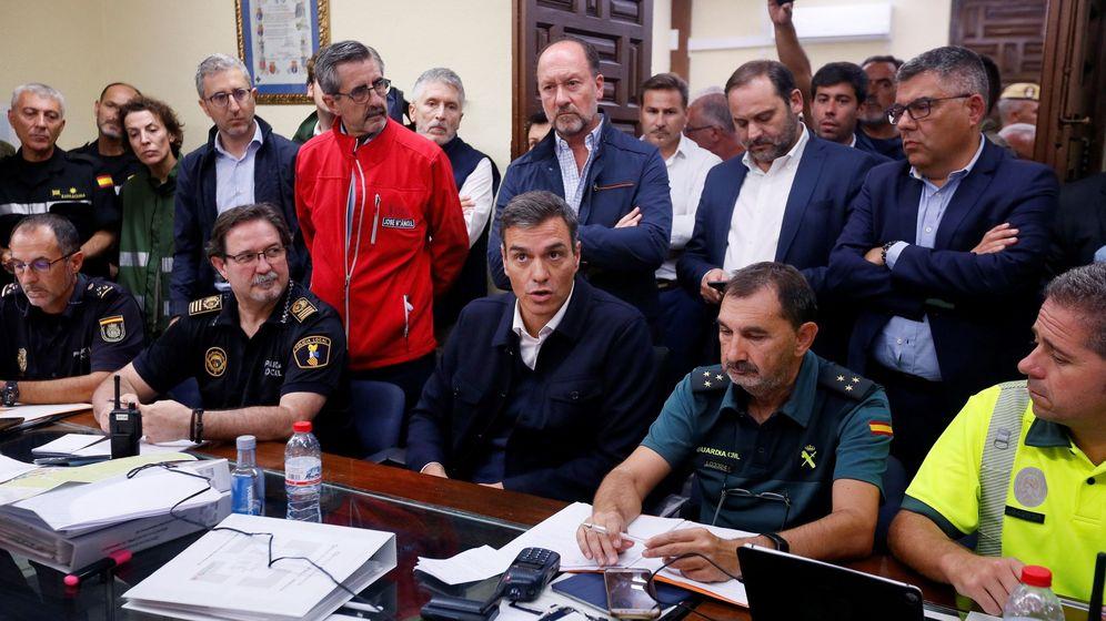 Foto: Pedro Sánchez durante su visita a Orihuela (Alicante). (EFE)