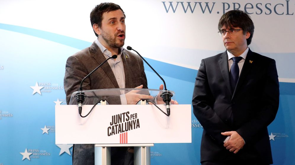 Foto: Toni Comín y Carles Puigdemont. REUTERS