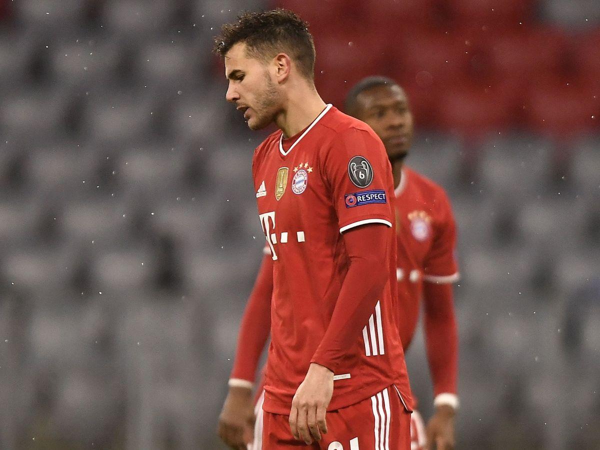 Foto: Lucas Hernández, en un partido con el Bayern. (EFE)