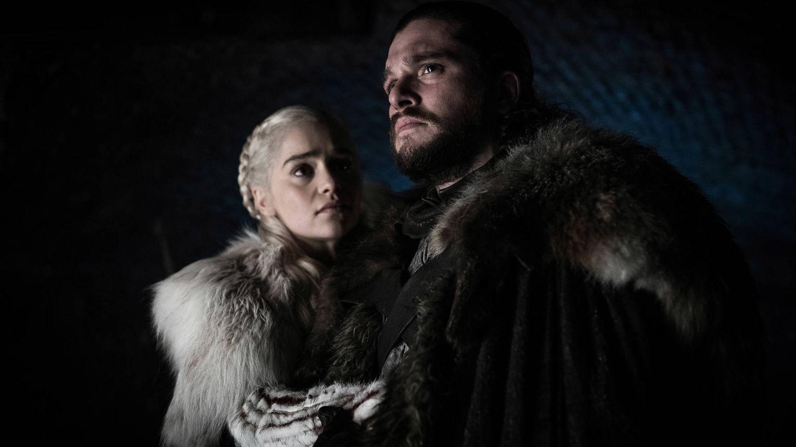 Foto: Daenerys y Jon Snow, en 'Juego de tronos'. (HBO)