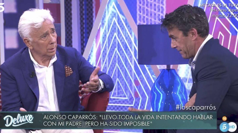 Andrés y Alonso Caparrós, en 'Sábado Deluxe'. (Mediaset)