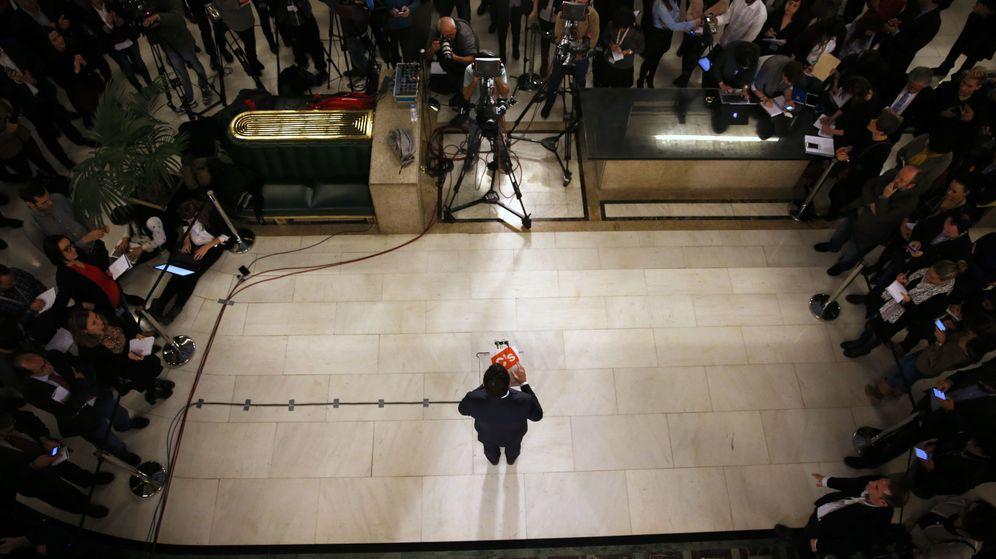 Foto: Pedro Sánchez, en la rueda de prensa tras el pacto. (Reuters)