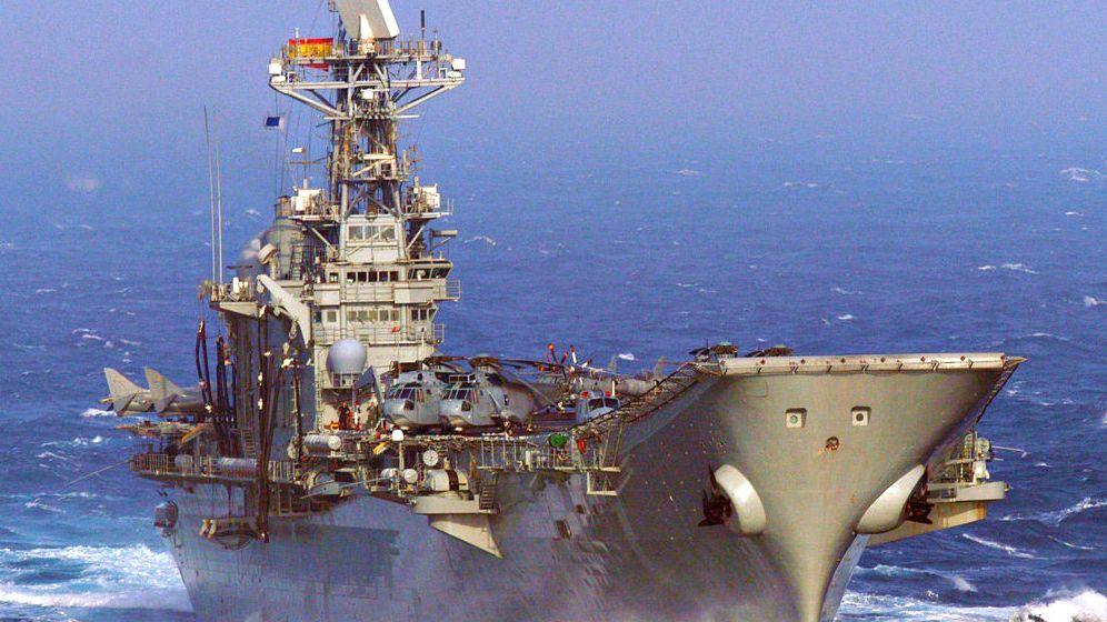 Foto: El portaaviones Príncipe de Asturias en una foto de archivo. (Wikimedia Commons)