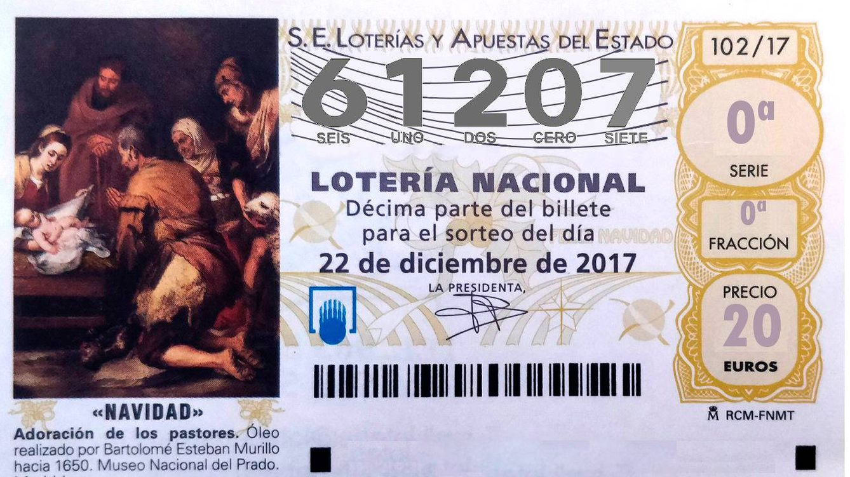 El segundo cuarto premio de la Lotería de Navidad, el 61.207, se va ...