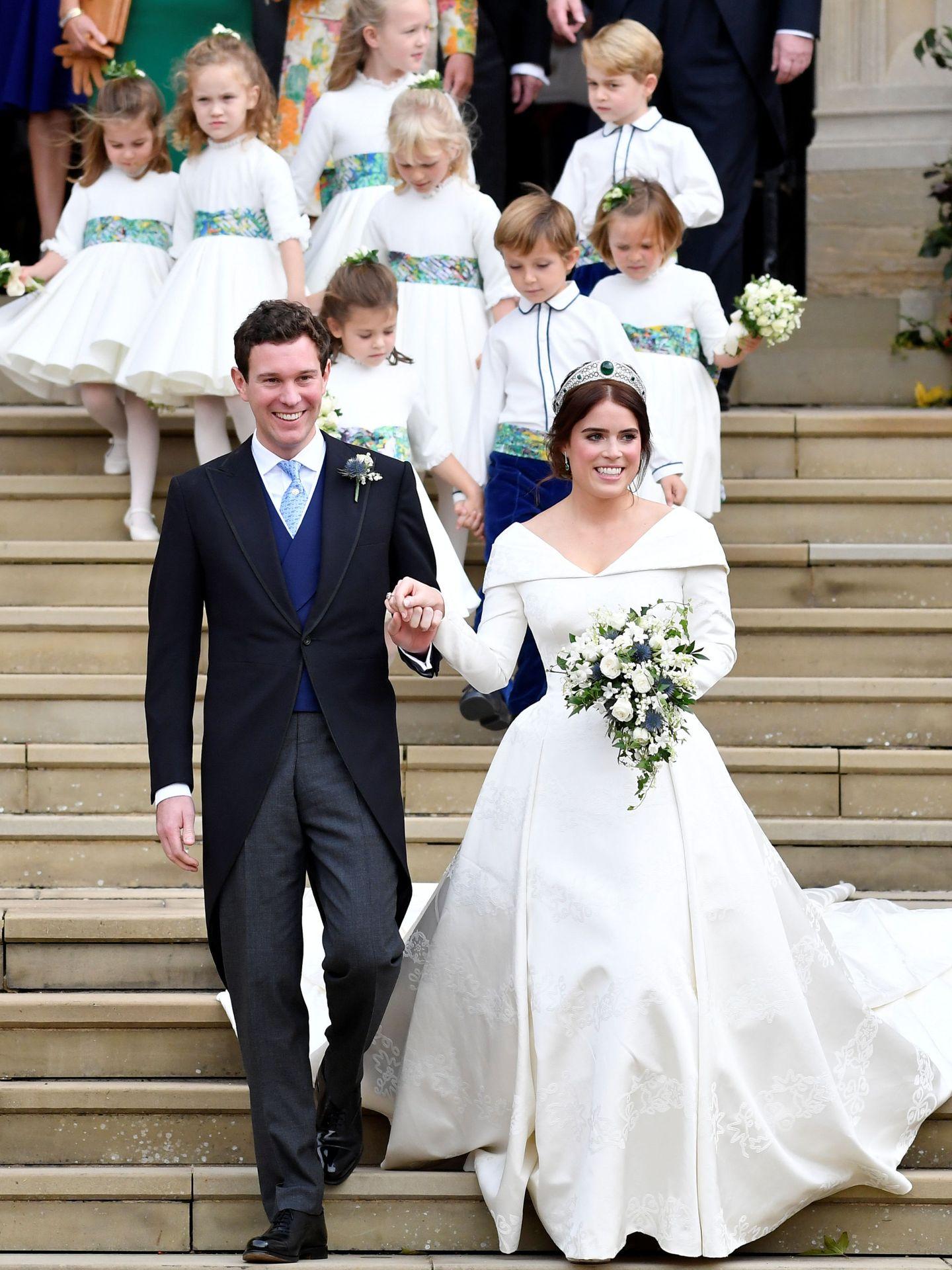 Eugenia de York y Jack Brooksbank, el día de su boda. (Reuters)