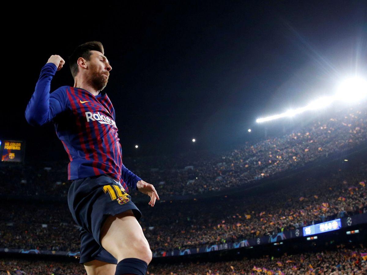 Foto: Messi anota un gol en la Champions en 2019. (Reuters)