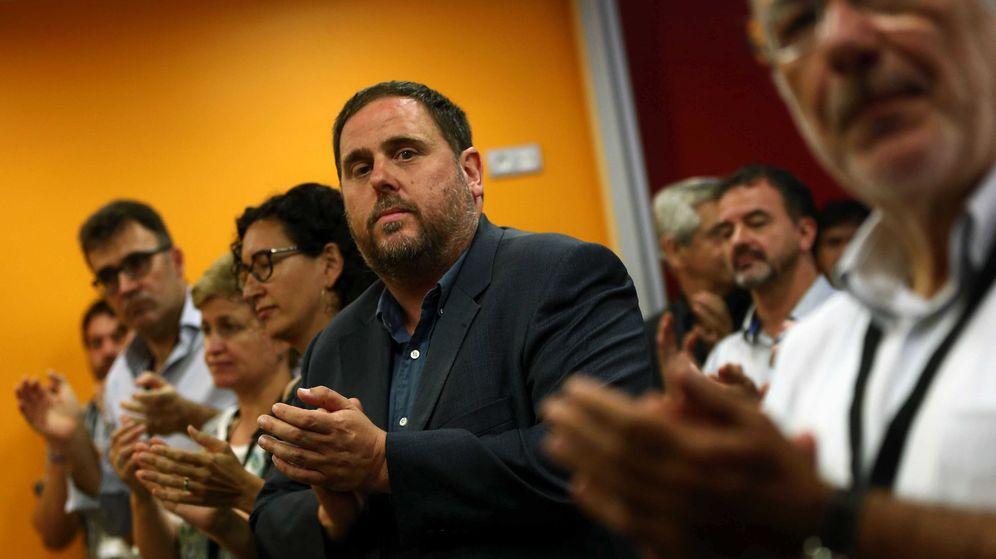 Foto: El líder de ERC y vicepresidente de la Generalitat, Oriol Junqueras (c). (EFE)