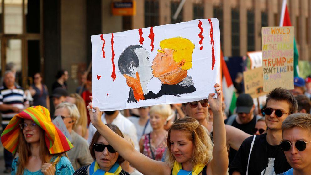 Helsinki se inunda de protestas contra Putin y Trump