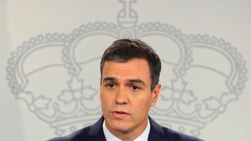 Foto: Pedro Sánchez, durante una rueda de prensa en Moncloa. (EFE)