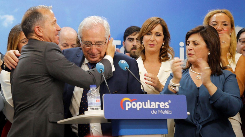 Juan José Imbroda, tras anunciar en rueda de prensa su renuncia a su acta de diputado por Melilla. (EFE)