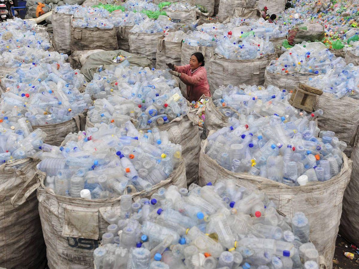 Foto: El reciclaje de plástico va a más en la industria textil (EFE)