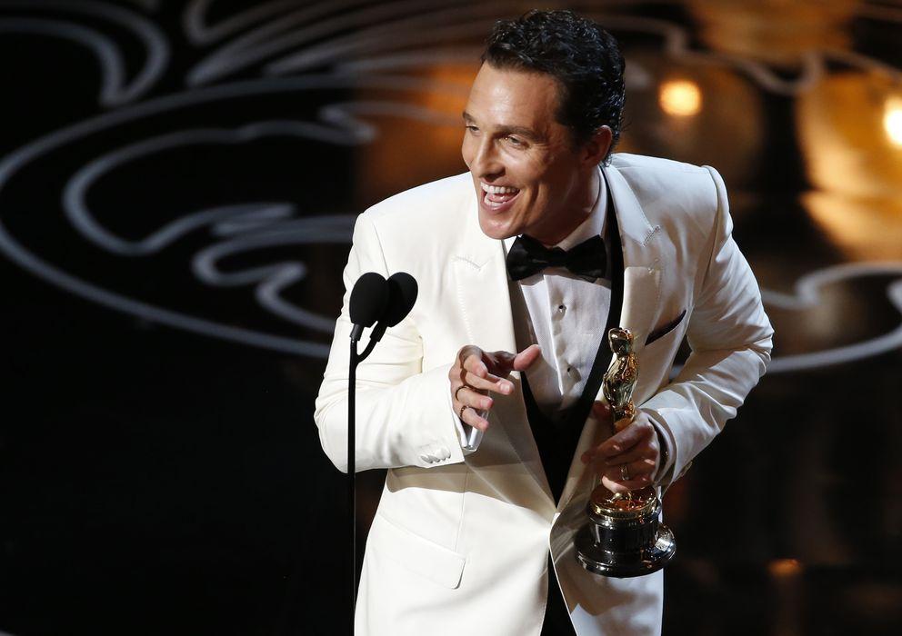 Foto: Matthew McConaughey recoge el Oscar al mejor actor