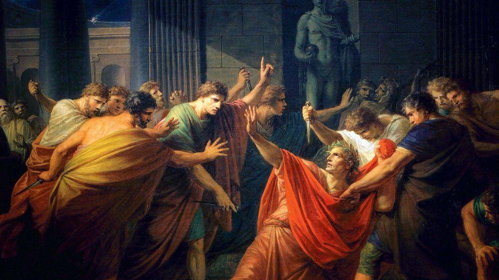 Foto: 'La muerte de Julio César'. (Óleo de F. H. Fuger)