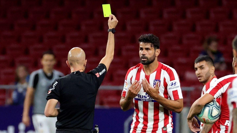 Deigo Costa salió en la segunda parte, no vio puerta y vio una tarjeta amarilla. (EFE)