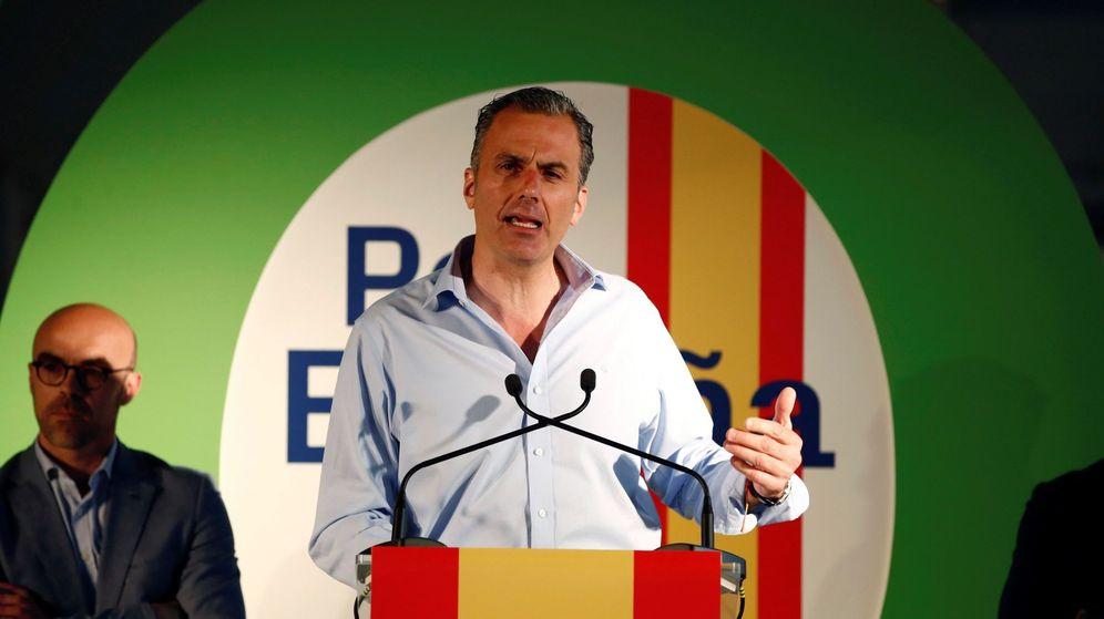 Foto: Javier Ortega Smith durante un acto electoral