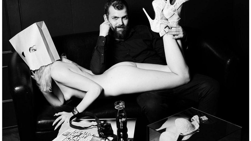 Foto: Manel León junto a la modelo Liz Red. (Polymerboy Barcelona)