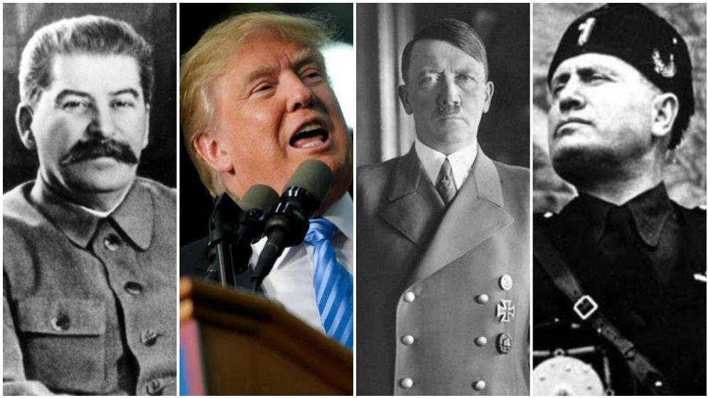 Foto: De izquierda a derecha: Josef Stalin, Donald Trump, Adolf Hitler y Benito Mussolini