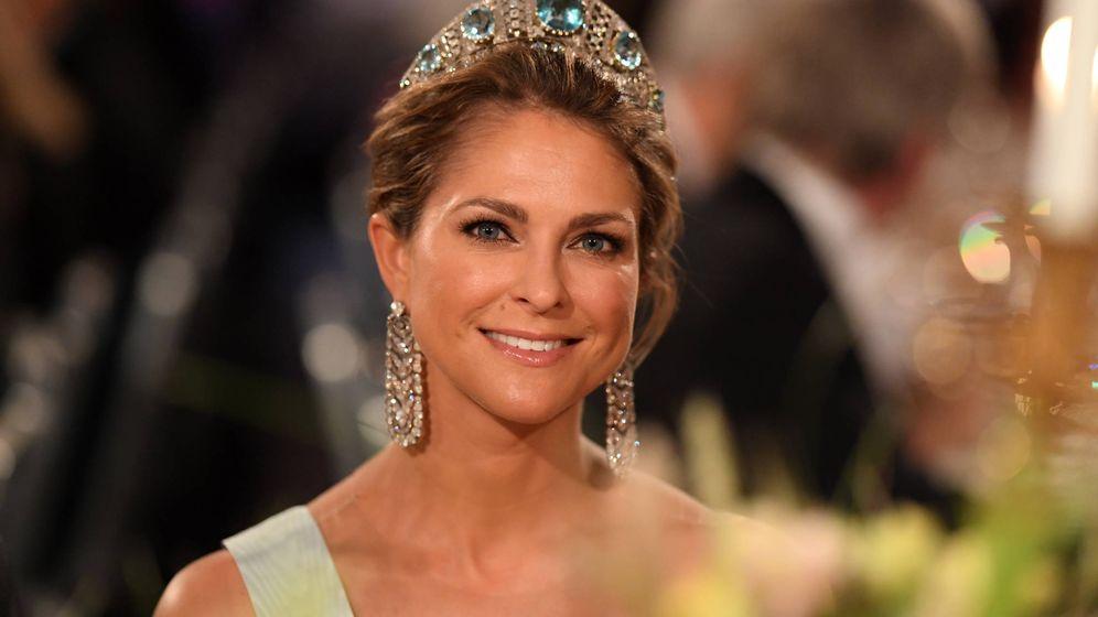 Foto: La princesa Magdalena, durante la cena de los Nobel. (Getty)