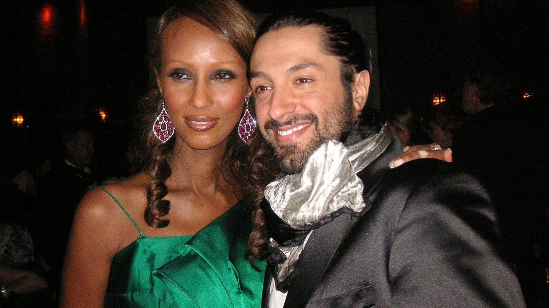 Rafael Amargo, con la modelo Iman en Miami en 2008. (EFE)