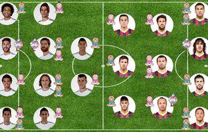 El FC Barcelona gana en el clásico del 'baby boom'