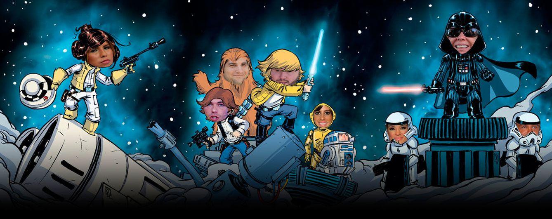 Foto: Los miembros del clan Pantoja en la piel de los personajes de 'Star Wars' (Fotomontaje: Vanitatis)