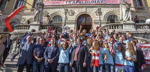 Post de El título de Liga del equipo femenino del Athletic acaba con bronca en Bilbao