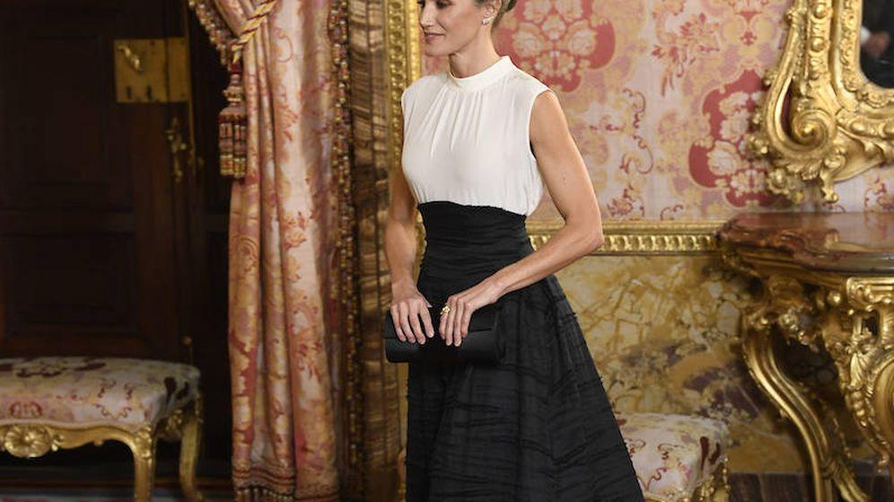 Foto: La reina Letizia, durante la recepción. (Limited Pictures)