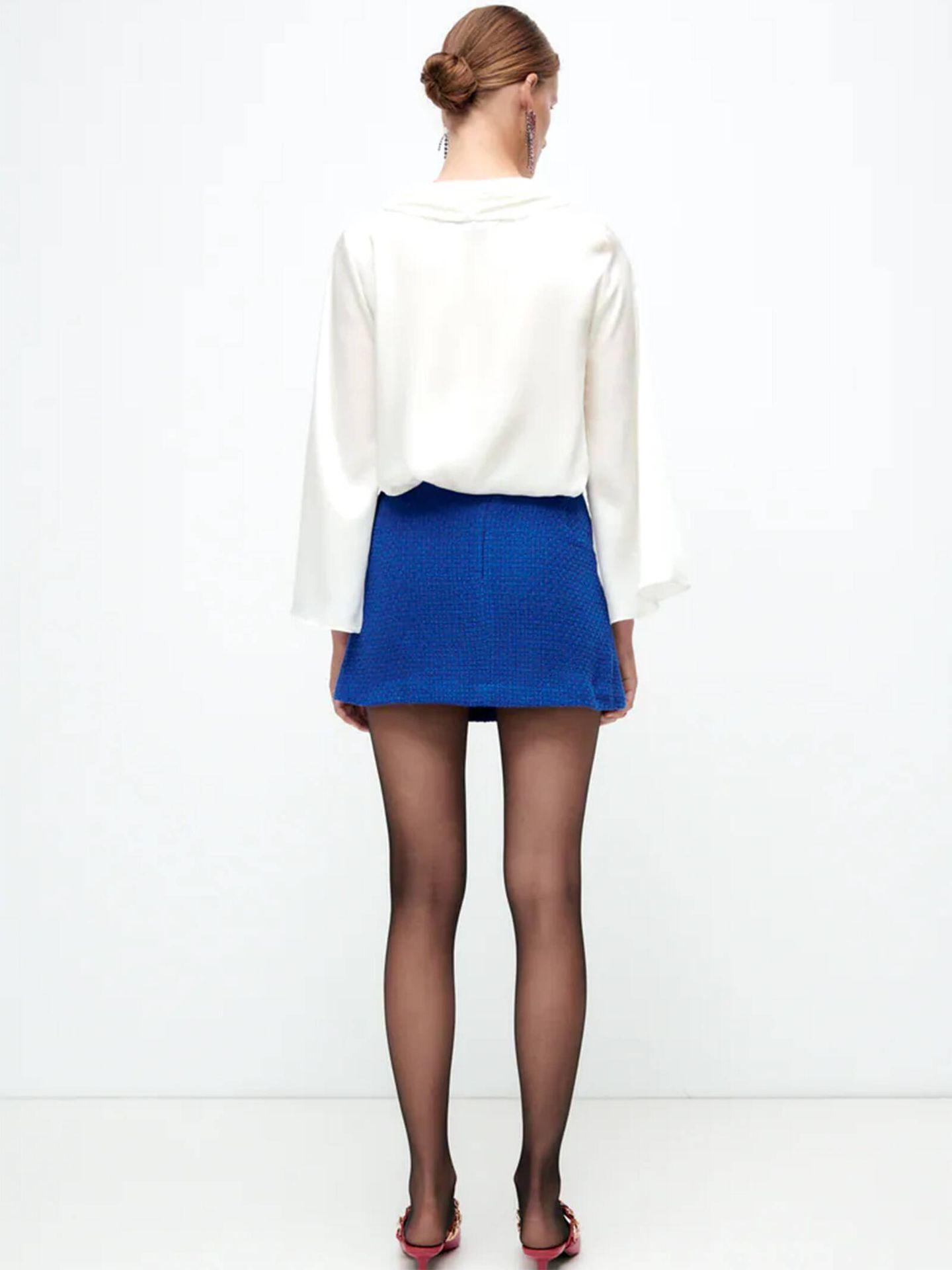 La nueva minifalda de Zara que es un diez de estilo. (Cortesía)