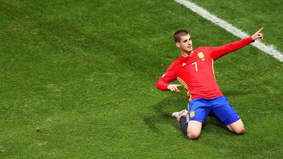 Foto: Morata celebra un gol a Turquía en la Eurocopa de Francia. (EFE)