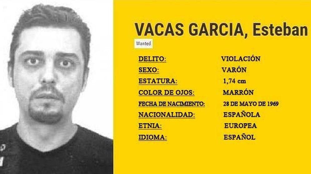 Foto: Ficha de Esteban Vacas, el fugitivo español más buscado