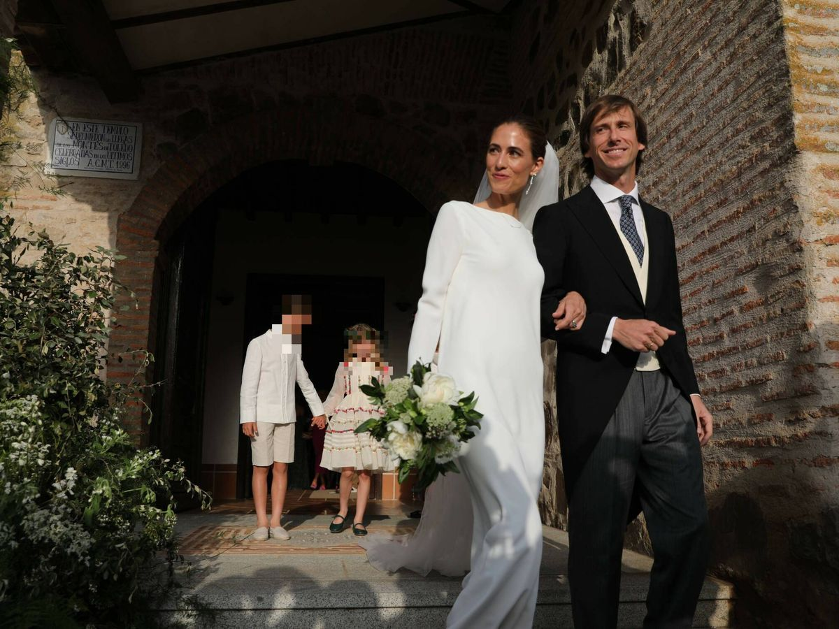 Foto: Amelia Millán y Felipe Cortina, en su boda. (Limited Pictures)