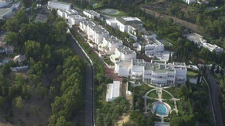Vista aérea del palacio Mar-Mar de la familia real saudí.