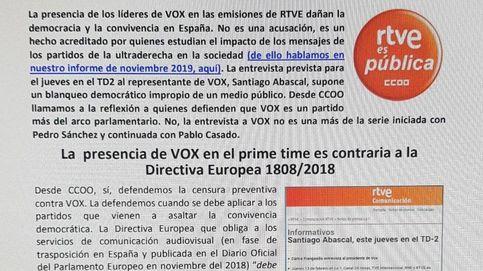División entre los trabajadores de RTVE por la entrevista a Abascal