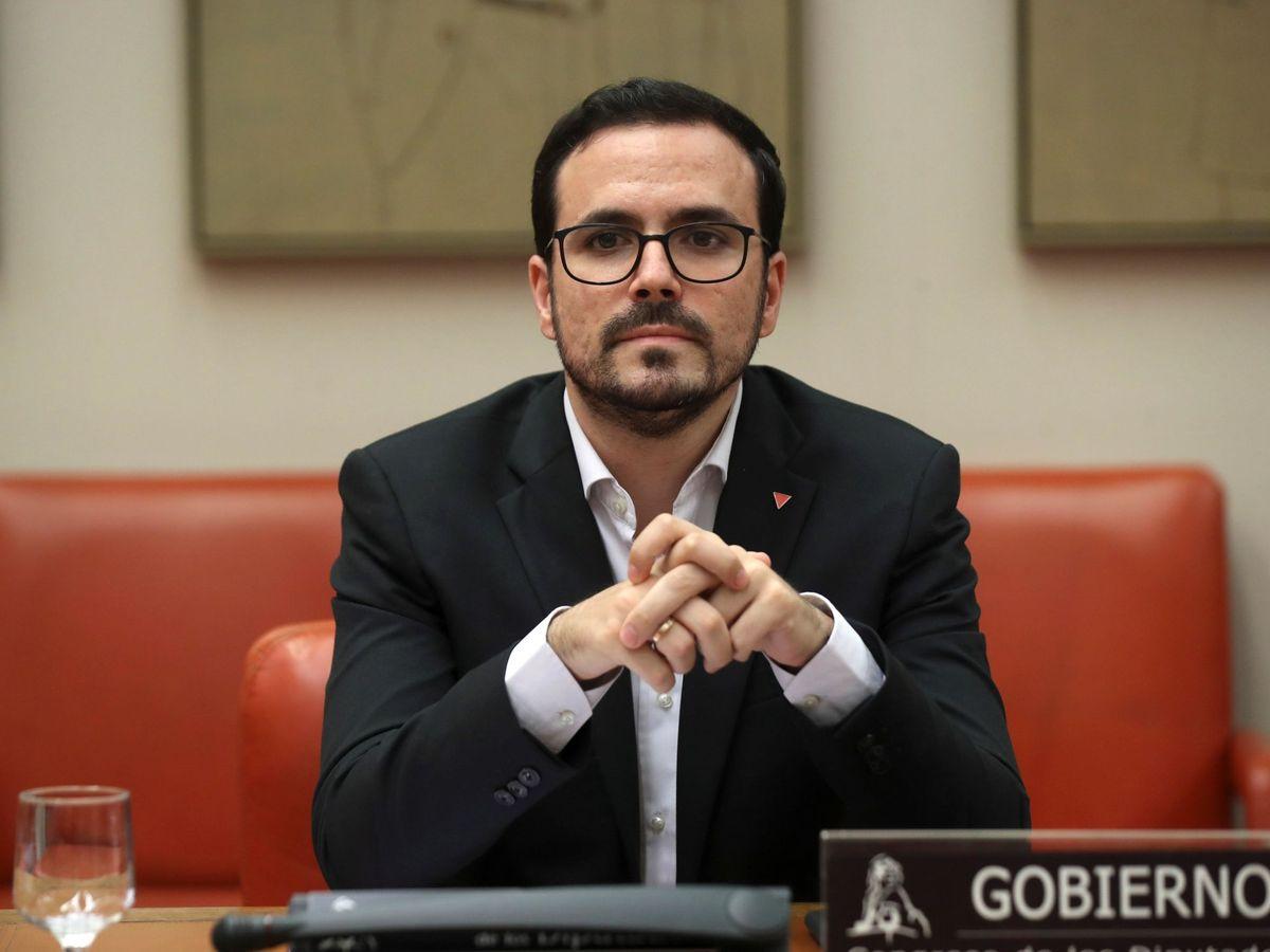 Foto: El ministro de Consumo, Alberto Garzón, en la Comisión Mixta para el Estudio de los Problemas de las Adicciones. (EFE)