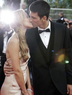 Novak Djokovic y su novia Jelena Ristic en el Festival de cine de Cannes (I.C.)