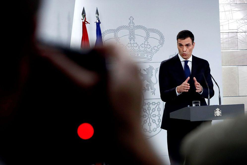 Foto:  El presidente del Gobierno, Pedro Sánchez, este 6 de junio en la presentación de su Gobierno en La Moncloa. (EFE)