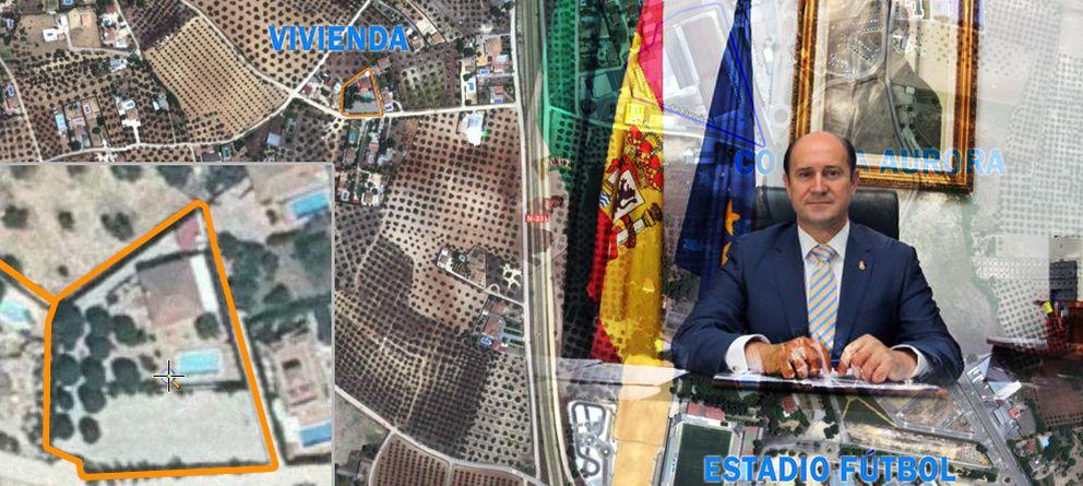 Foto: Cabello, diputado del PP por Córdoba y alcalde de Montilla, vive en un chalé ilegal